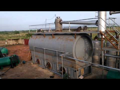 New Tech waste oil pyrolysis oil distillation plant,scrap tyre recycling plant