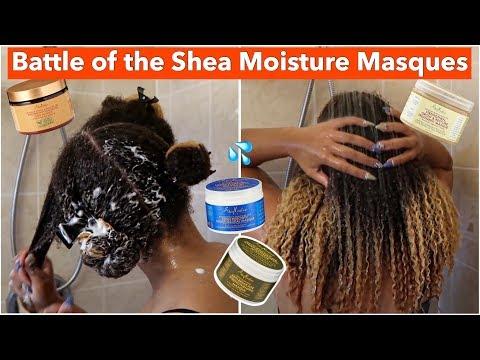 Battle of the Shea Moisture Deep Conditioners | FAVORITE Shea Moisture MASQUE Natural Hair