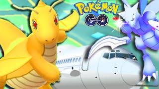 EPIC SNOW WHITE GYM BATTLE IN AIRPORT | POKEMON GO LEGENDARY POKEMON BATTLE