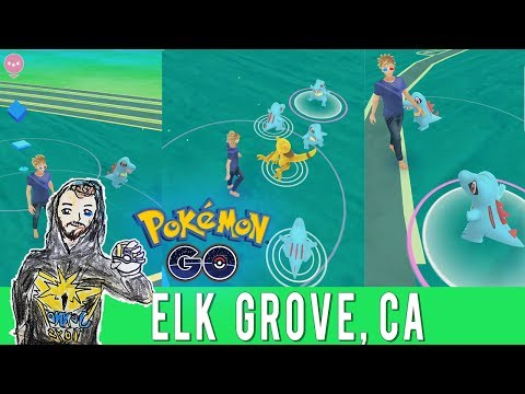 TOTODILE NEST EXPLORATION! 👣 Destination Pokemon GO in Elk Grove, California! Huge Cluster Spawn!