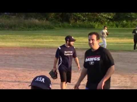 Allegis vs First County Bank - Men's Spring Softball League - Video Highlights - June 01, 2016