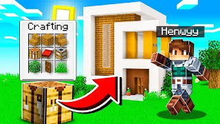 CHEATING with INSTANT HOUSE MOD in Minecraft!