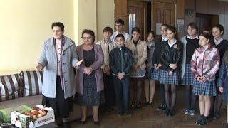 Учащиеся и педколлектив лапстархской средней школы № 1  посетили инвалидов Отечественной войны народ