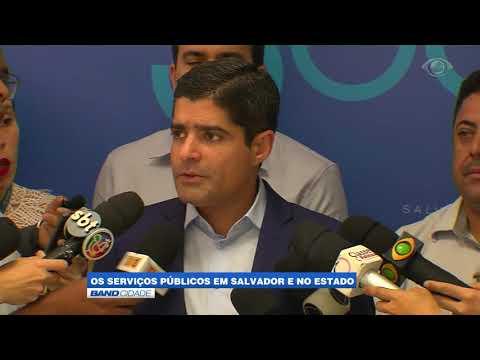 Serviços públicos em Salvador e no Estado