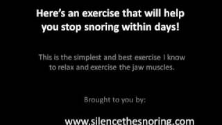 Mind Blowing Snoring  Cures to help you stop snoring