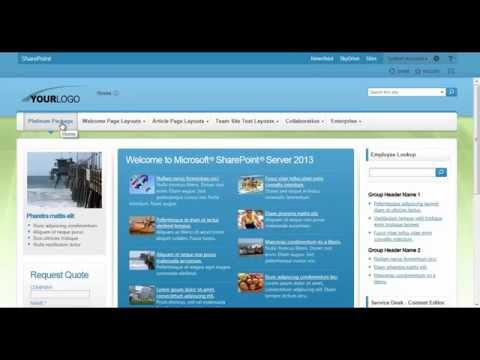 sharepoint 2013 theme adjusting colors youtube