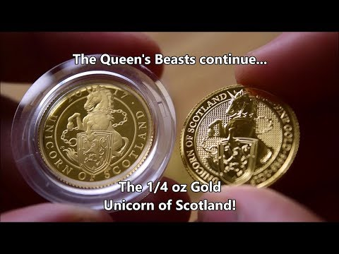 My 1/4 oz Gold Queen's Beast Stack grows - The Unicorn of Scotland!
