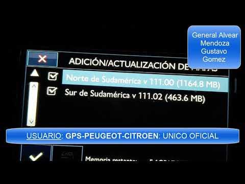 Actualizacion GPS Peugeot Citroen - versión V111.2 - 2019