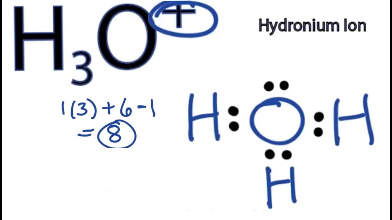 a step by step explanation of how to draw the h3o lewis structure rh youtube com Electron Dot Diagram for Oxygen lewis dot diagram youtube