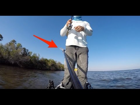 How To Fish From Your Kayak Standing Up (Cool Paddle Trick)