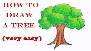how to draw a tree step by step ( very easy)