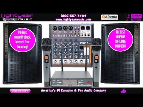 Professional Karaoke System   DJ Karaoke LED Speakers   Wireless Mics   FREE Karaoke Software ✅