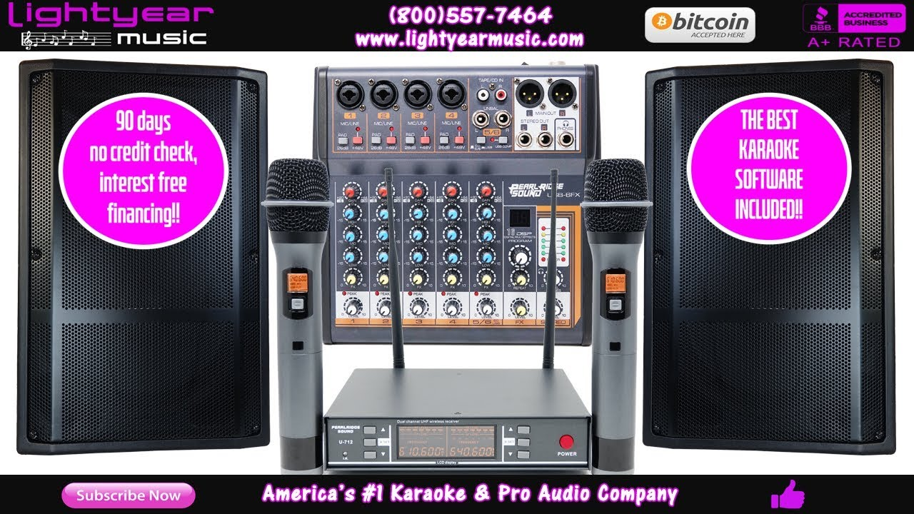 Professional Karaoke System | DJ Karaoke LED Speakers | Wireless Mics |  FREE Karaoke Software ✅