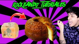 HAZ UN PASTEL CON PAN VIEJO 😱| RockeandoTutoriales