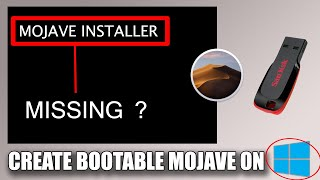 Wie erstellen mac os mojave-bootable usb von windows ( Update keine boot / installer option ) ✔