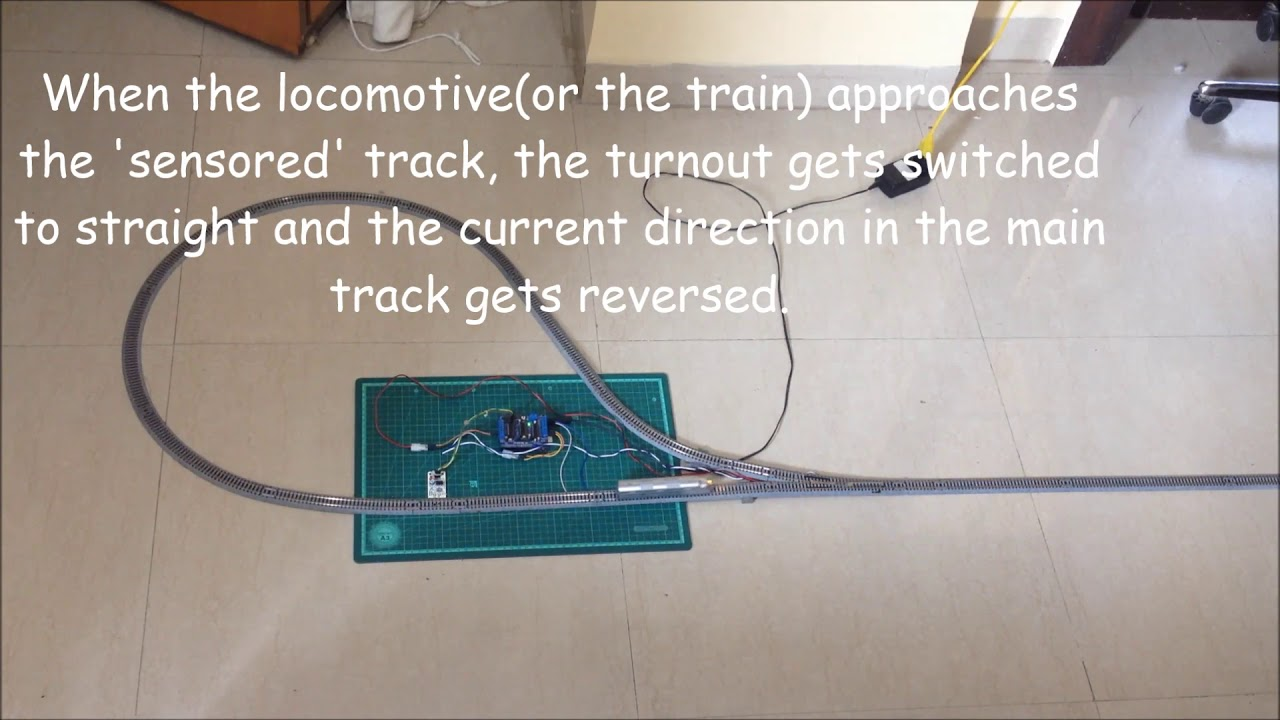 automated train reverse loop using arduino 10 steps with pictures ho track dcc switch motor wiring [ 1280 x 720 Pixel ]