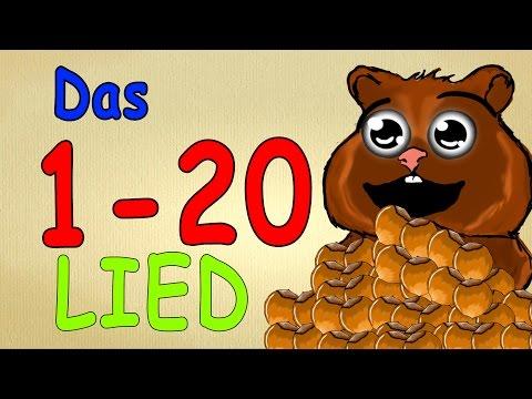 Zahlen lernen deutsch bis 20 - mit Harald Hamster - zählen lernen für kleinkinder 1-20 Animation