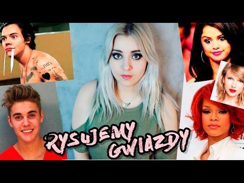 RYSOWANIE z Iwoną: Bieber, Selena, Harry, Rihanna, Taylor