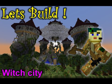 Epic Minecraft speed build: Witch City - faction spawn & shop