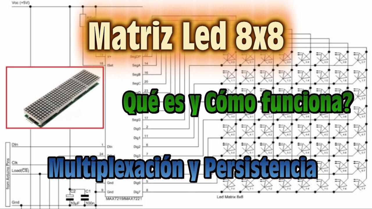Matriz De Led 8x8 Que Es Y Como Funciona Que Es Multiplexacion Y Persistencia Youtube