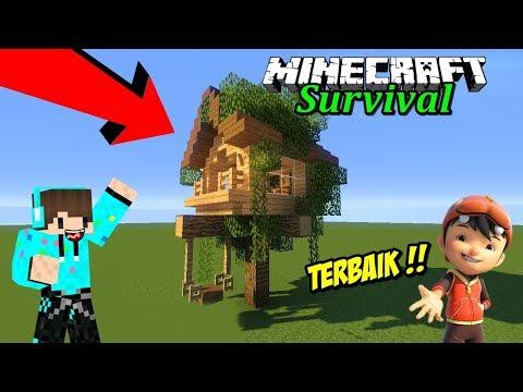 DIBANTU BOBOIBOY BIKIN RUMAH POHON RAKUN ! Minecraft Survival #33