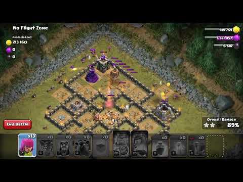 Clash Of Clans - No Flight Zone 3 Stars Goblin Map