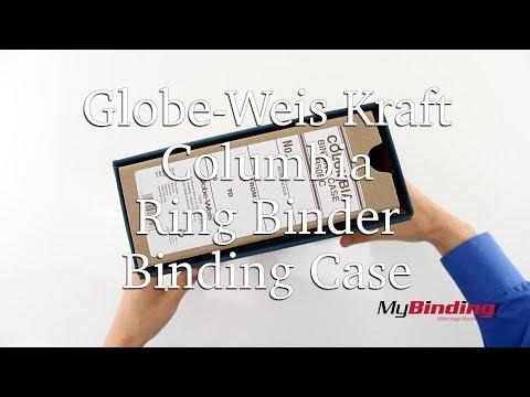 Globe Weis Kraft Columbia Ring Binder Binding Case