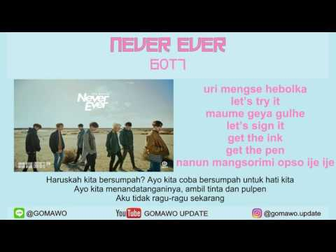 LIRIK GOT7 - NEVER EVER by GOMAWO [Indo Sub]