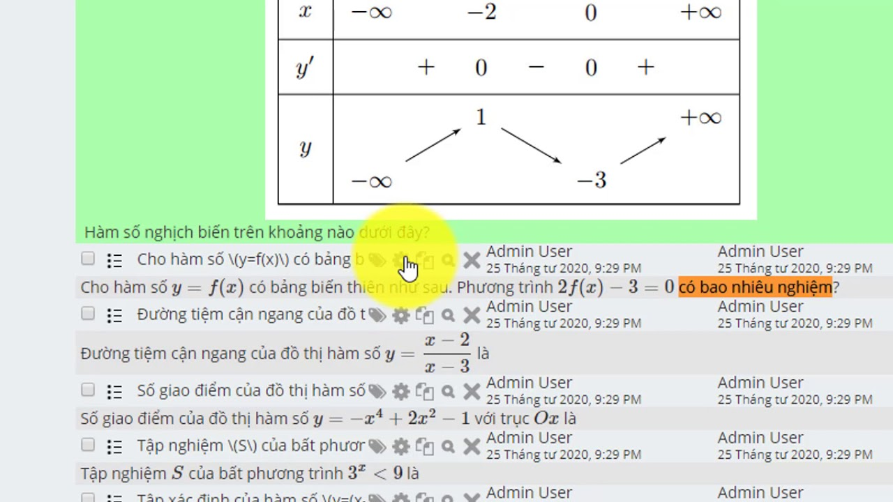 Cách đưa câu hỏi latex chuẩn ExTest lên web Moodle