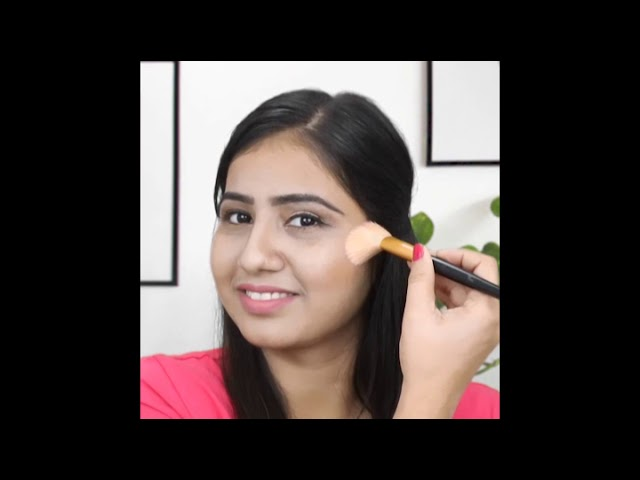 How To Bronze, Blush, and Highlighter On Round Face   Medium Skin tone