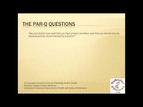 Physical Activity Readiness Questionnaire: PAR-Q