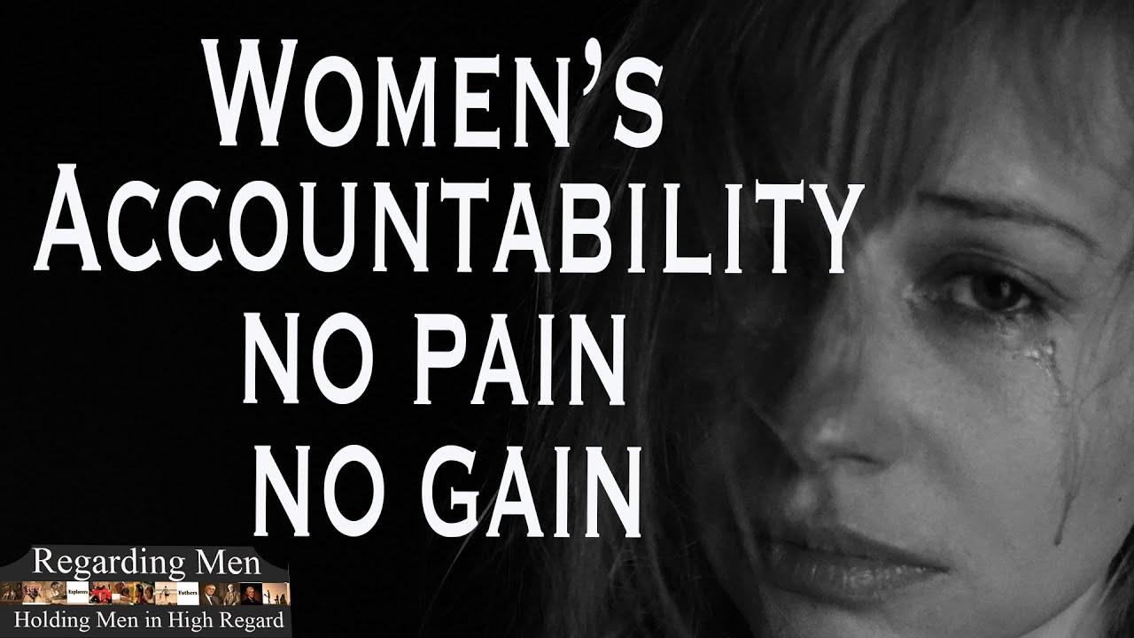 Women's Accountability: No Pain, No Gain