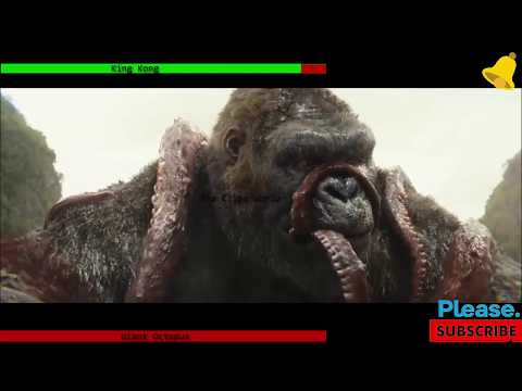 King Kong Vs Giant Octopus Fight WIth HealthBar | King Kong | Health Bar | Kong Vs Giant Squid