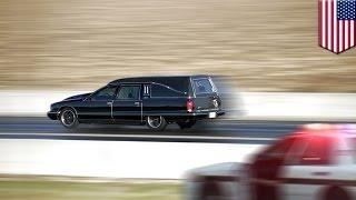 Enfermo mental en Los Ángeles roba una carroza fúnebre con un difunto en su interior