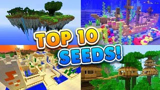 TOP 10 BEST SEEDS for Minecraft! (Pocket Edition, PS4, Xbox, Switch, PC)