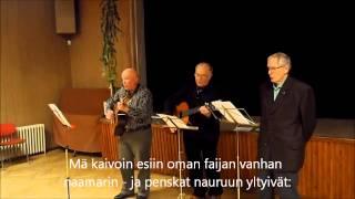 121210 Stadin kundi joulupukkina Mosan kisällien tapaan