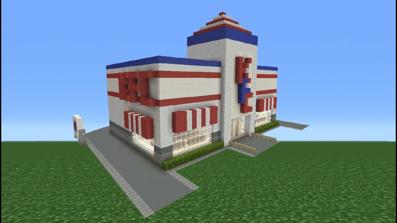Minecraft Tutorial: How To Make A KFC Restaurant - YouTube