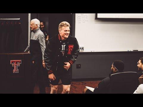 Texas Tech Football: Letterman Jacket Presentation   2019