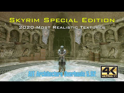 【4K120FPS】2020 Skyrim Special Edition the Most Realistic Textures and ENB |