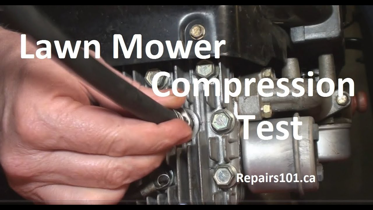 hight resolution of lawn mower compression test
