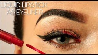 How To: Using Liquid Lipstick As Eyeliner