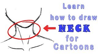 How to draw neck in a cartoon character (Step by Step)