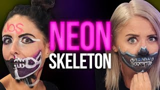 NEON SKULL Makeup Tutorial Halloween 2017! (Beauty Break)