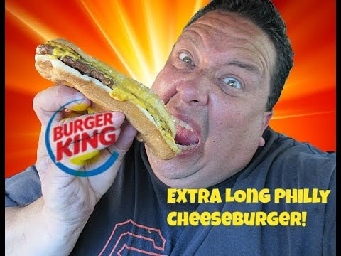 Burger King® Extra Long Philly Cheeseburger Review!