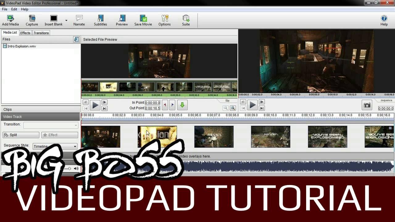 Videopad Video Editor V2.41 Tutorial   Export/Render a ...
