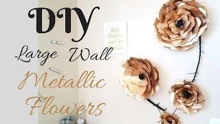 Diy Large Metallic Flower Wall Decor Using Papers!!!