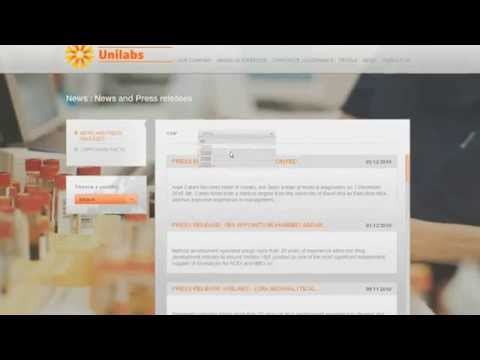 Web design and digital strategy - Unilabs websites by Procab Studio web agency in Geneva Switzerland