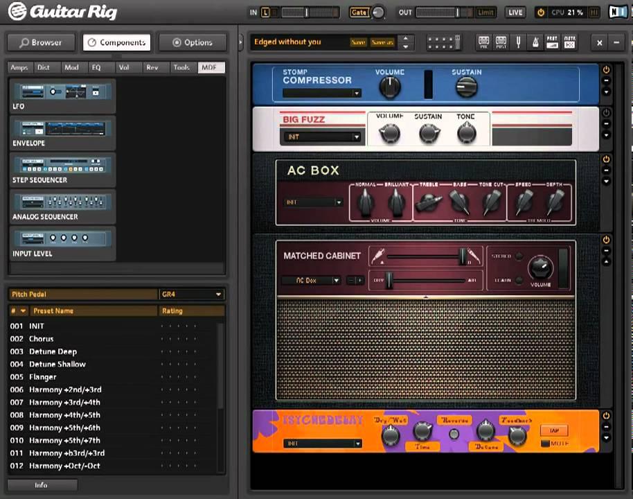 guitar rig free download windows 7
