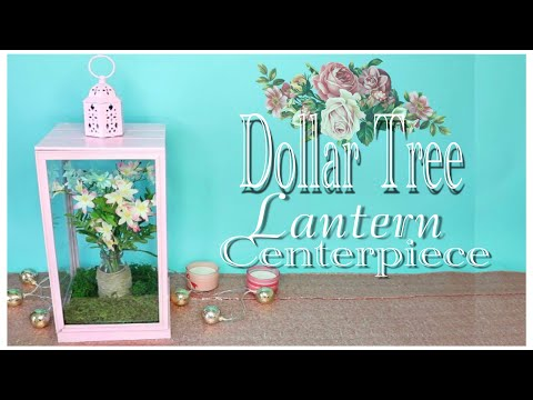 Dollar Tree DIY Lantern Wedding Centerpiece