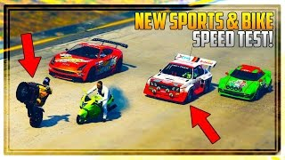GTA 5 NEW BIKE & SPORTS CARS SPEED TEST! - Best Bike in the Game!? Should You Buy Them?
